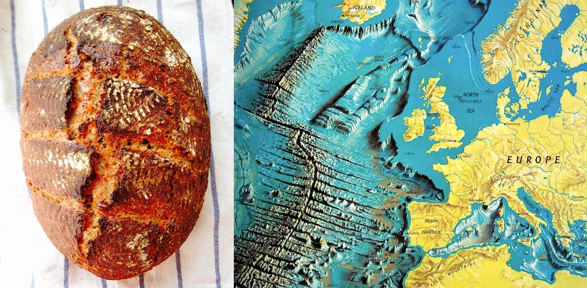 Bread and Mid Ocean Ridge morphology